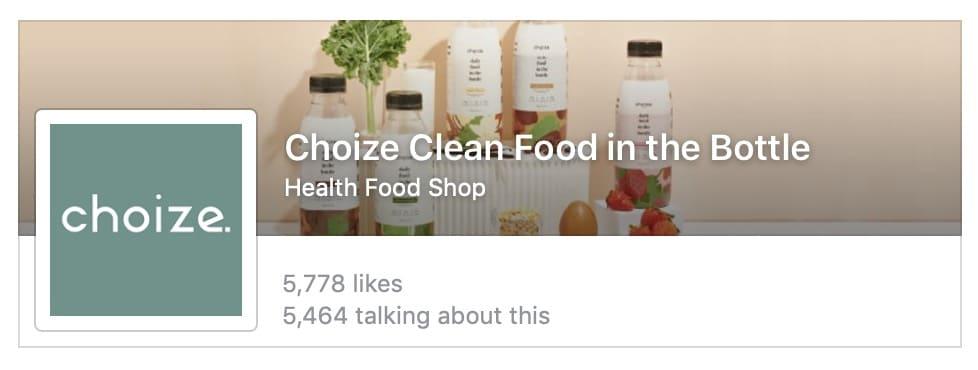 5. เพจ Facebook อาหารคลีน Choize Clean Food in the Bottle