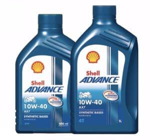 1. น้ำมันเครื่องมอเตอร์ไซค์ Shell Advance AX7