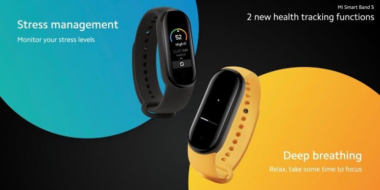 นาฬิกา Xiaomi Mi Band 5 Stress Management & Deep Breathing