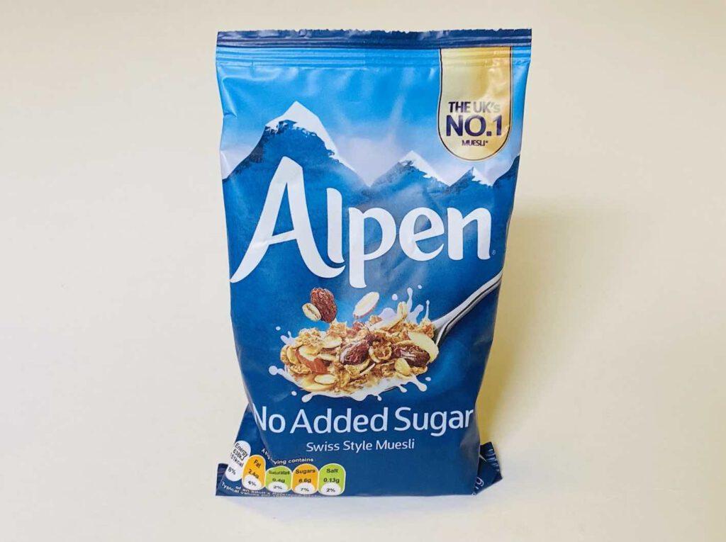 4.2 มูสลี่ Alpen สูตรไม่เติมน้ำตาล