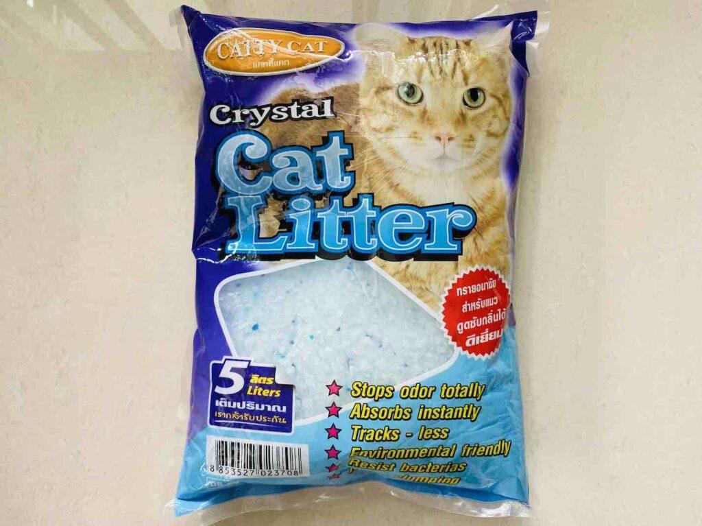 1. ทรายแมว ยี่ห้อ CATTY CAT ทรายแมวคริสตัน