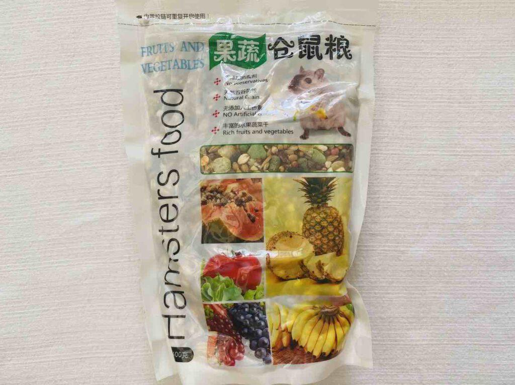 9. อาหารหนูแฮมเตอร์ ยี่ห้อ 果蔬 仓鼠粮 จากประเทศจีน