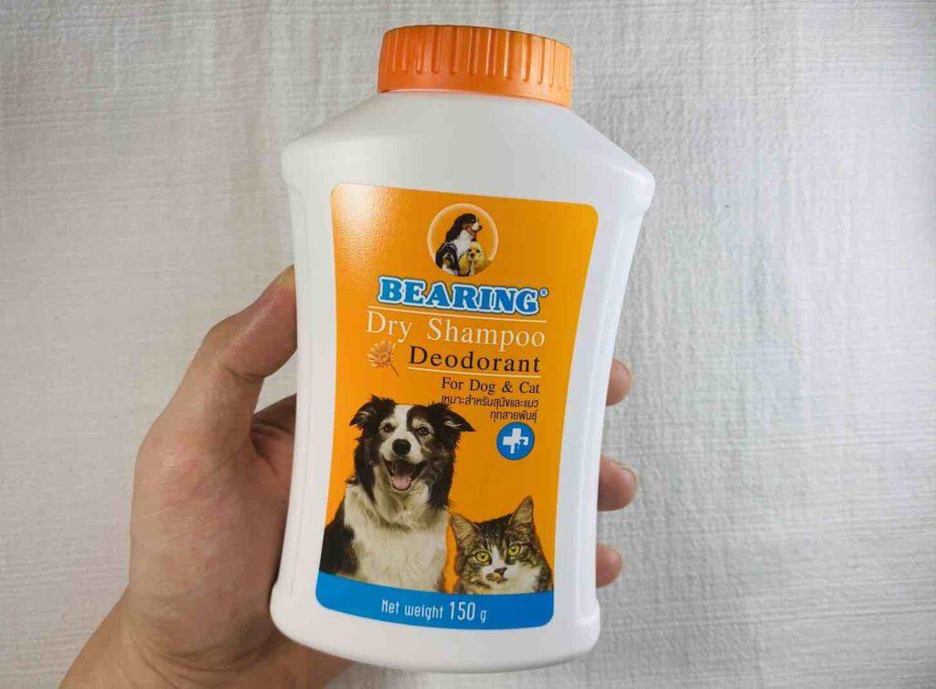 7. อาบน้ำแมว อาบน้ำหมา ด้วย แชมพูอาบแห้ง ยี่ห้อ BEARING