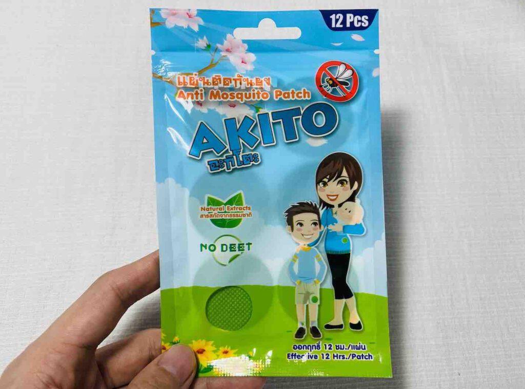 7. แผ่นแปะกันยุง ยี่ห้อ AKITO