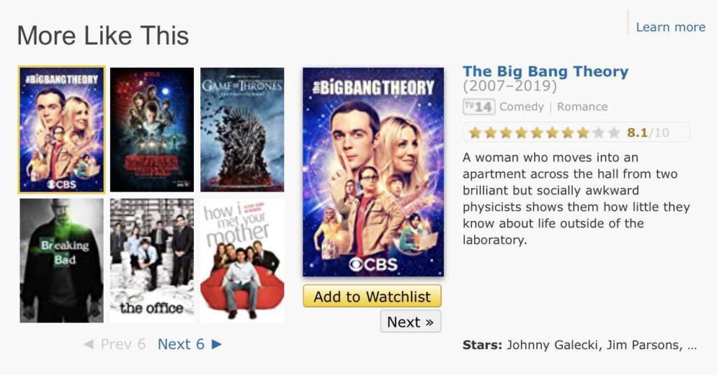 IMDb.com More like this กำลังบอกว่ามีซีรีย์ฝรั่งเรื่องอื่น ๆ ที่มีแนวเหมือนกับเรื่องนี้