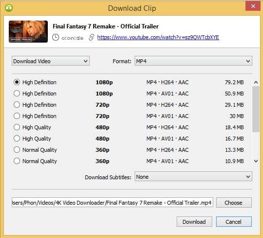 วิธีใช้ 4K Video Downloader