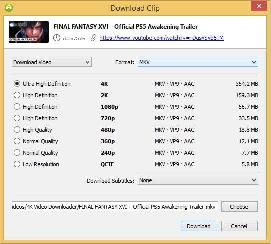 วิธีแปลง YouTube ให้เป็น MP4 หรือ MKV ด้วย 4K Video Downloader