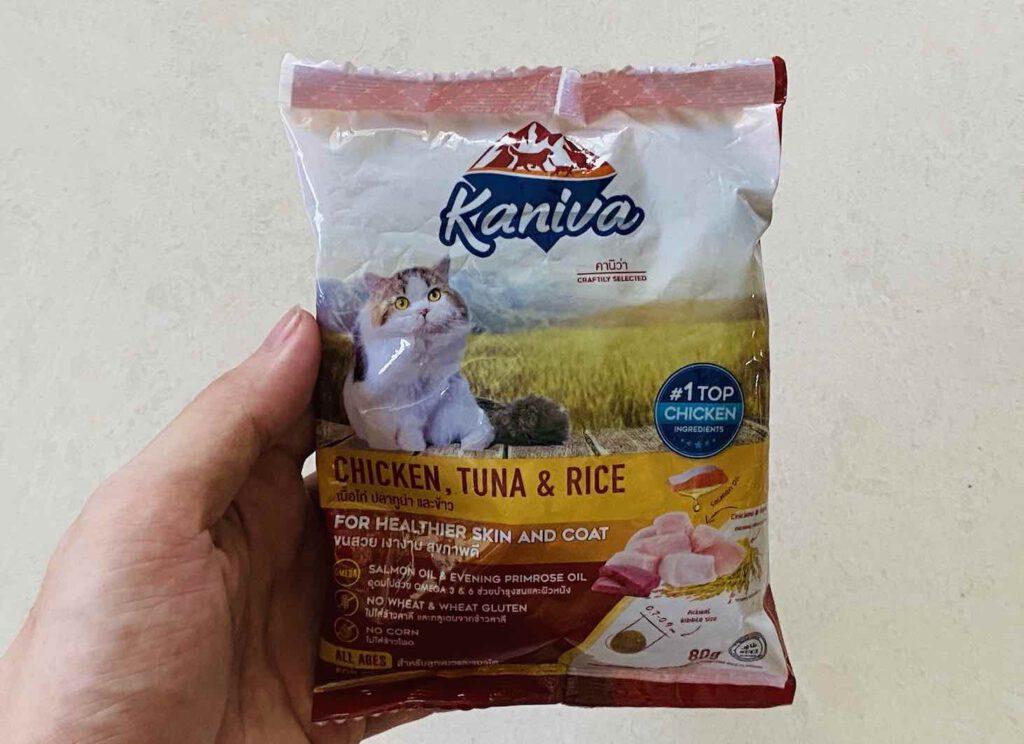 8. อาหารเม็ดแมว ยี่ห้อ Kaniva