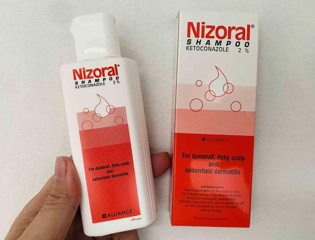 3. แชมพูขจัดรังแค ยี่ห้อ Nizoral SHAMPOO ประเภทยา
