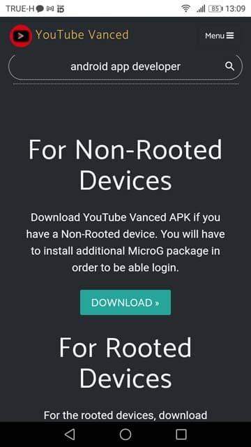 download youtube vanced