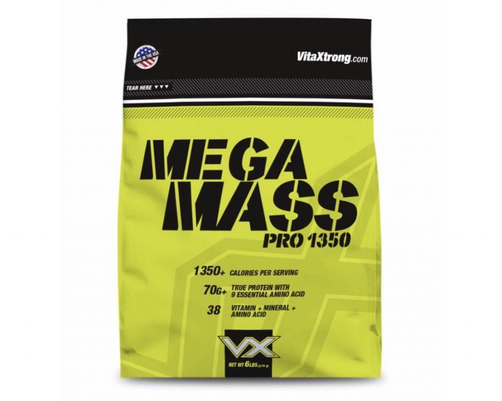 1. เวย์โปรตีนเพิ่มน้ำหนัก ยี่ห้อ Vitaxtrong Mega Mass Pro 1350