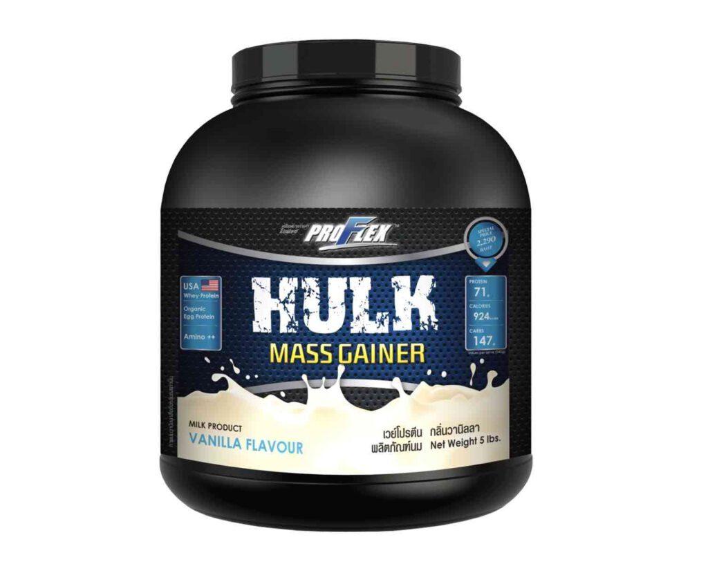3. เวย์โปรตีนเพิ่มน้ำหนัก ยี่ห้อ Proflex Hulk Mass Gainer