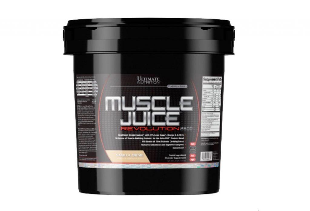 6. โปรตีนเพิ่มน้ำหนัก ยี่ห้อ Ultimate Nutrition รุ่น Muscle Juice Revolution 2600