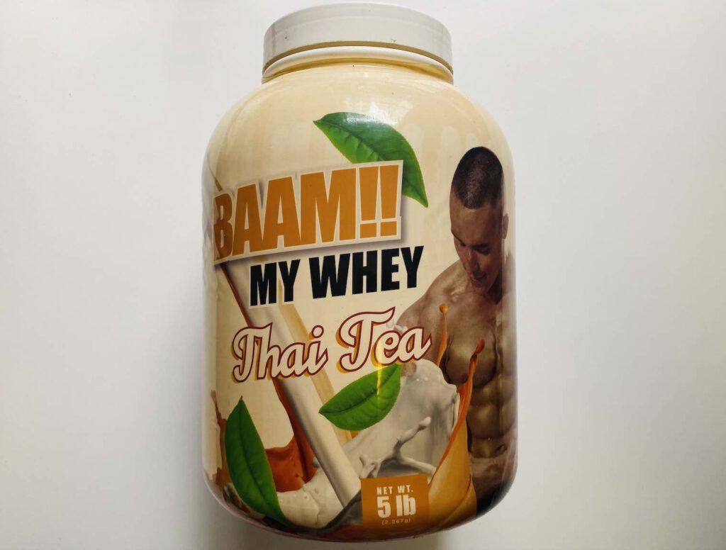 7. เวย์โปรตีน ยี่ห้อ BAAM!! MY WHEY Thai Tea