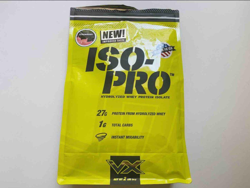 9. เวย์โปรตีน ยี่ห้อ VX รุ่น ISO-PRO Hydrolyzed Whey Protein
