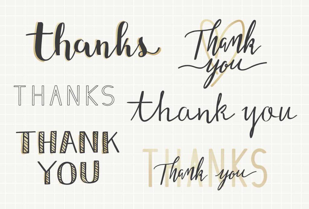 1. ขอบคุณภาษาอังกฤษ ขอบคุณแบบ ย่อ ๆ น่ารัก ๆ คูล ๆ ตรงประเด็น ขอบคุณแบบวัยรุ่น ในสถานการณ์ที่เป็นกันเอง ง่าย ๆ สบาย ๆ ชิล ๆ