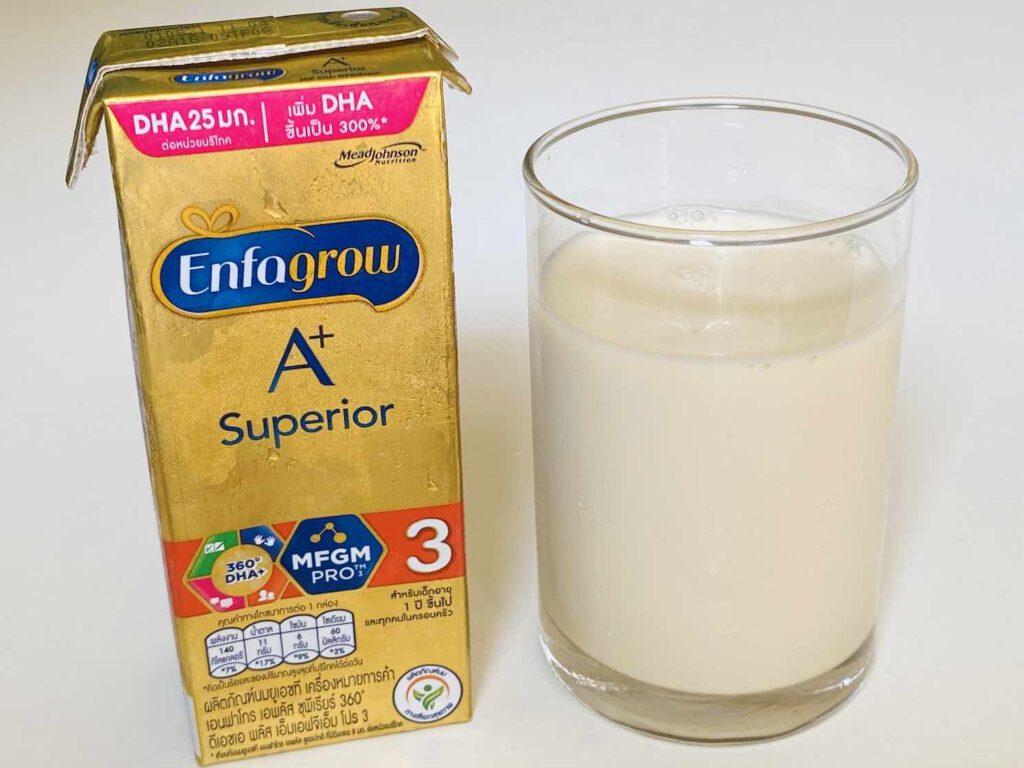 5.2 นมกล่องสำหรับเด็ก Enfagrow A+ แบบ Superior สูตร 3