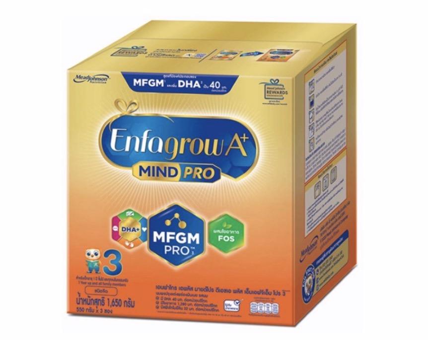 3.4 นมผงสำหรับเด็ก ยี่ห้อ Enfagrow A + MIND PRO สูตร 3