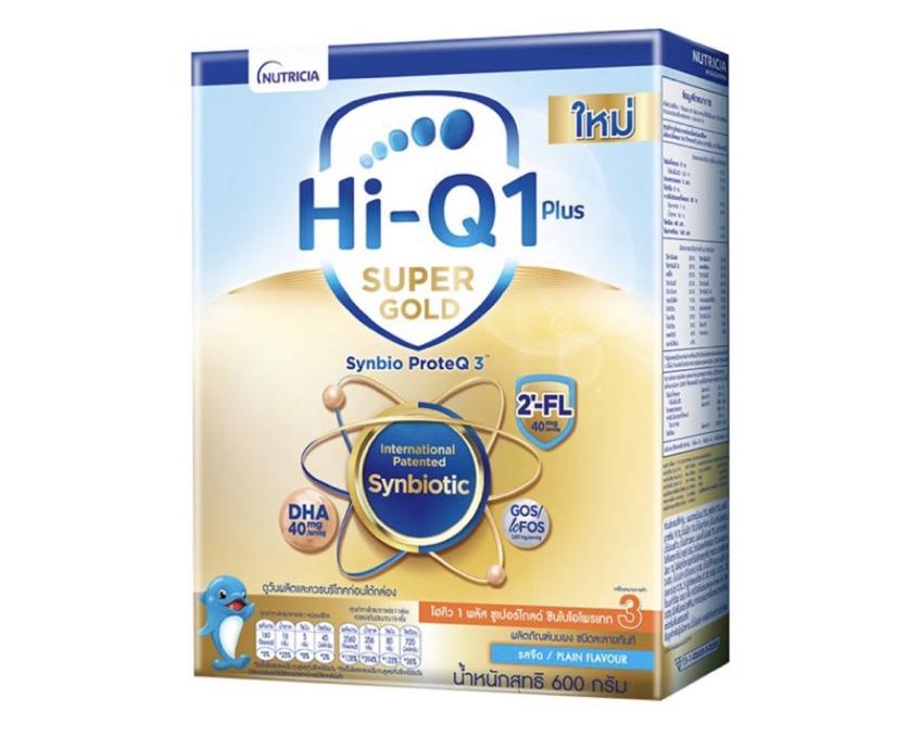 3.1 นมผงสำหรับเด็ก ยี่ห้อ Hi-Q 1 Plus Super Gold สูตร 3