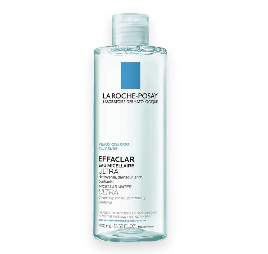 1. คลีนซิ่งลดสิว ยี่ห้อ La Roche Posay Effaclar Micellar Water Ultra Oily Skin