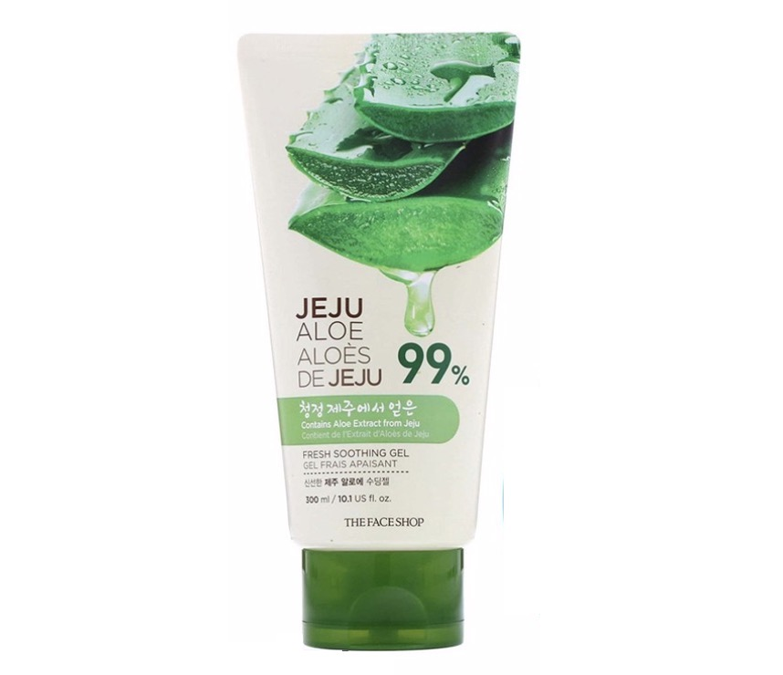 2. เจลว่านหางจระเข้ เกาหลี ยี่ห้อ The Face Shop Jeju Aloe Fresh Soothing Gel