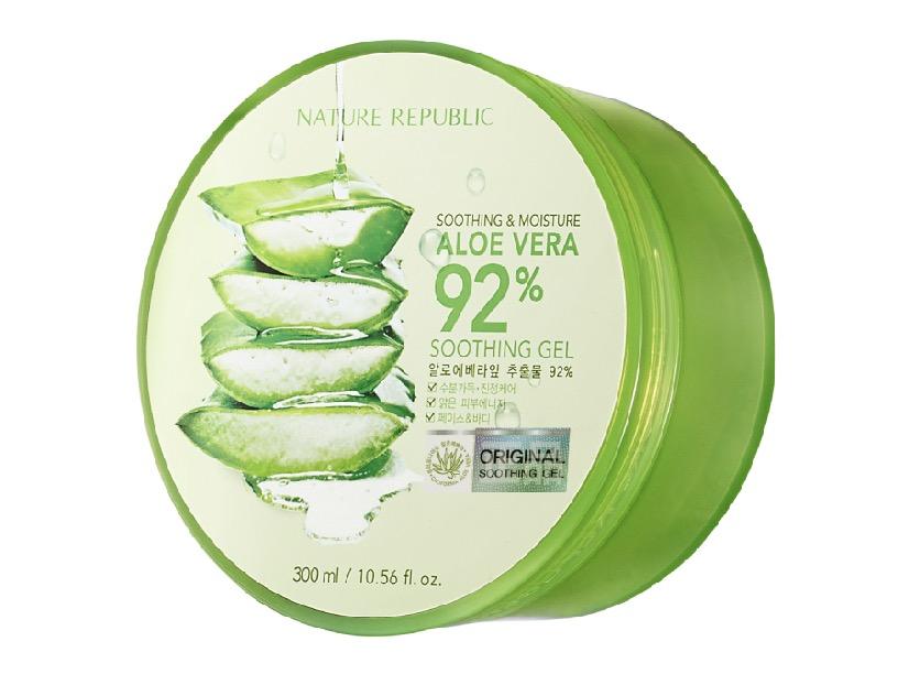 3. เจลว่านหางจระเข้ เกาหลี ยี่ห้อ Nature Republic Soothing & Moisture Aloe Vera 92% Soothing Gel