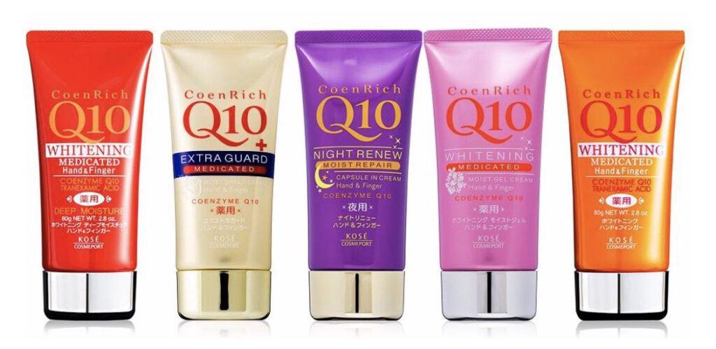1. ครีมทามือ ยี่ห้อ Kose Coenrich Q10 Hand Cream