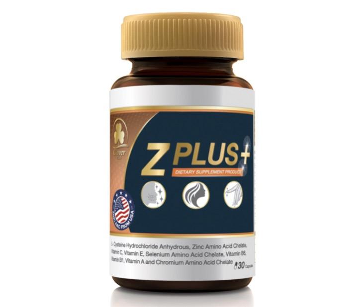 4. วิตามินลดสิว ยี่ห้อ Clover Plus Z PLUS+