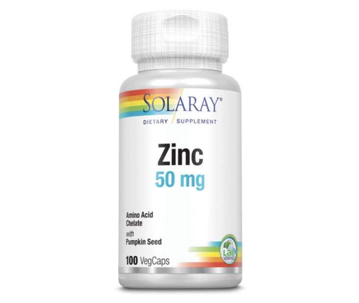 7. วิตามินลดสิว ยี่ห้อ Solaray Zinc