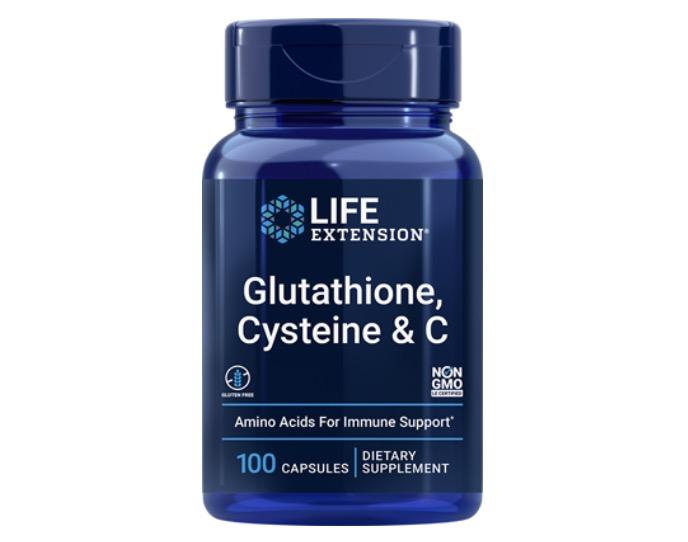 1. กลูต้าผิวขาว ยี่ห้อ Life Extension Glutathione, Cysteine & C