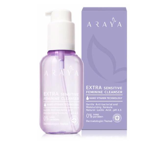 1. ยี่ห้อ Araya Extra Sensitive Feminine Cleanser