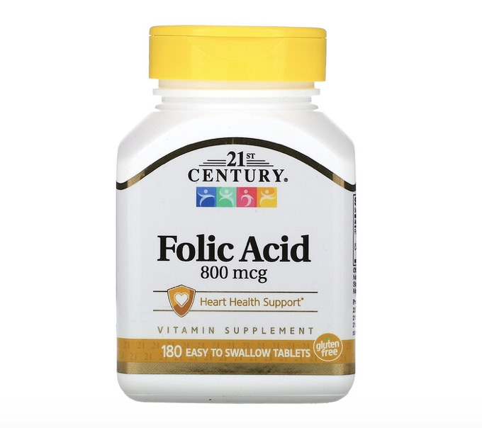 5. ยี่ห้อ 21st Century, Folic Acid