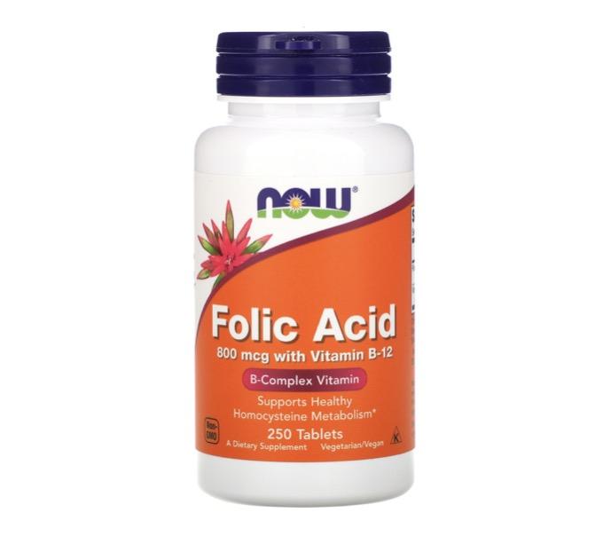2. ยี่ห้อ now Foods, Folic Acid