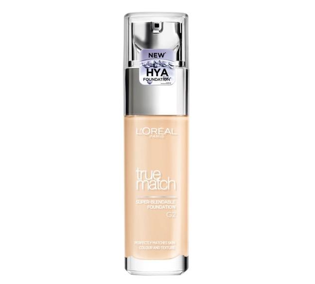 2. ยี่ห้อ L'ORÉAL PARIS True Match Liquid Foundation (New Hya)