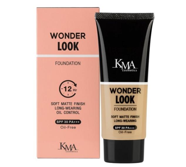 6. ยี่ห้อ KMA WONDER LOOK FOUNDATION SPF30 PA+++