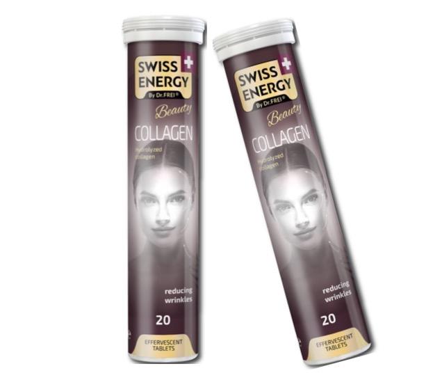 9. คอลลาเจนเม็ดฟู่ ยี่ห้อ SWISS ENERGY Beauty COLLAGEN