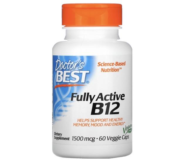 5. อาหารเสริมบำรุงสมอง ยี่ห้อ Doctor's Best, Fully Active B12