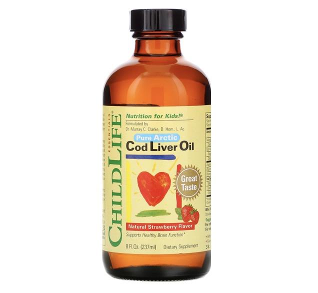 1. น้ำมันตับปลา ยี่ห้อ ChildLife® Pure Arctic Cod Liver Oil