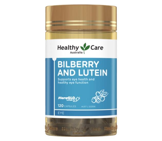 7. วิตามินบำรุงสายตา ยี่ห้อ Healthy Care Bilberry & Lutein