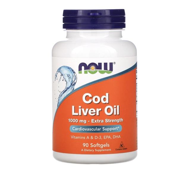 8. ยี่ห้อ now foods Cod Liver Oil