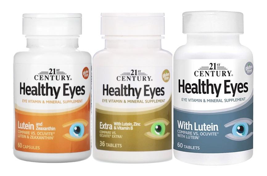 1. วิตามินบำรุงสายตา ยี่ห้อ 21st Century Healthy Eyes