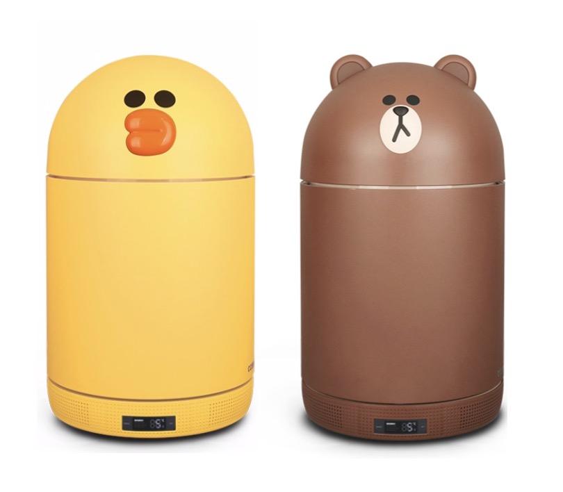 4. ยี่ห้อ CCOMO ตู้เย็นเล็กหมีบราวน์ และเจ้าเป็ดแซลลี่