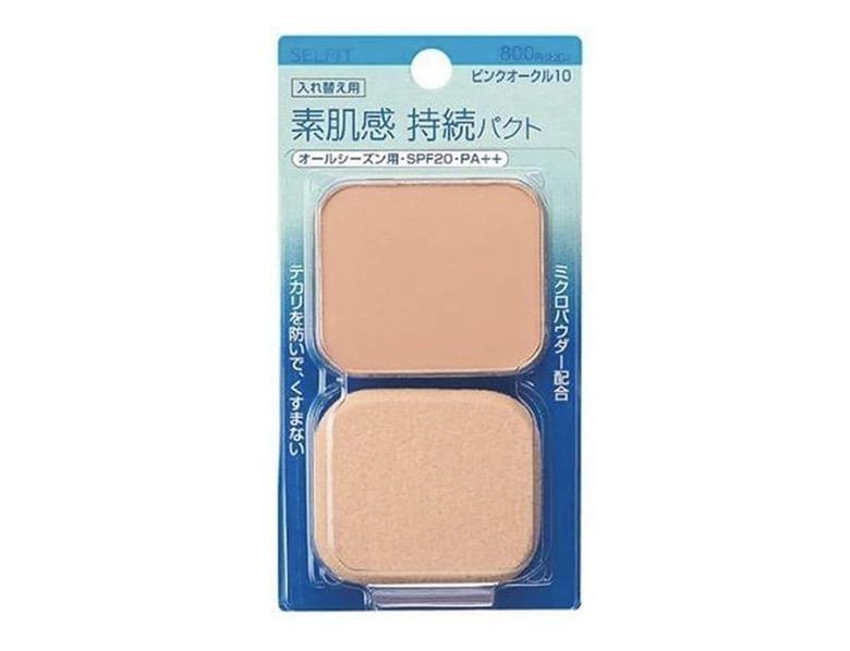 4. แป้งผสมรองพื้น ยี่ห้อ Shiseido Selfit Powder Foundation SPF 20 PA++
