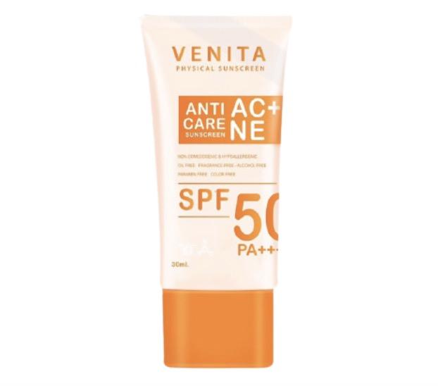 6. ครีมกันแดดสำหรับคนเป็นสิว ยี่ห้อ Venita Anti-Acne Care Sunscreen SPF50/PA+++