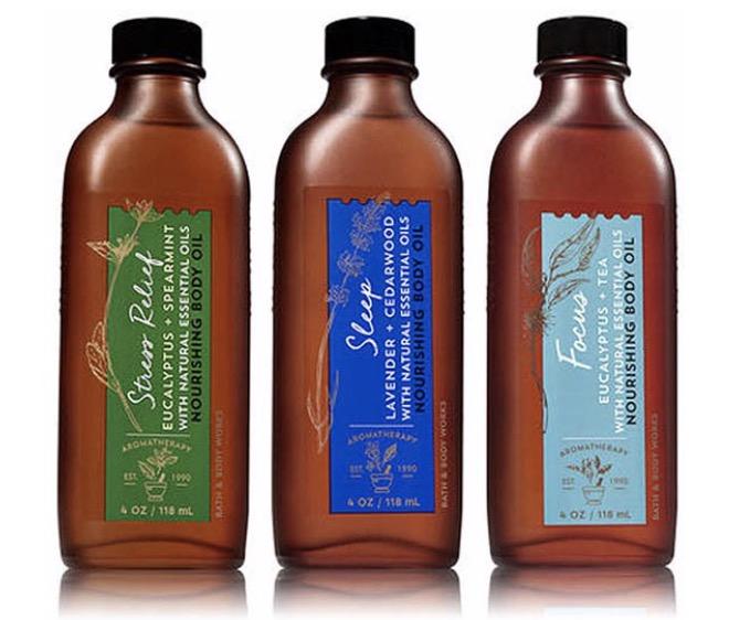 5. ออยทาผิว ยี่ห้อ Bath & Body Works Aromatherapy Body Oil