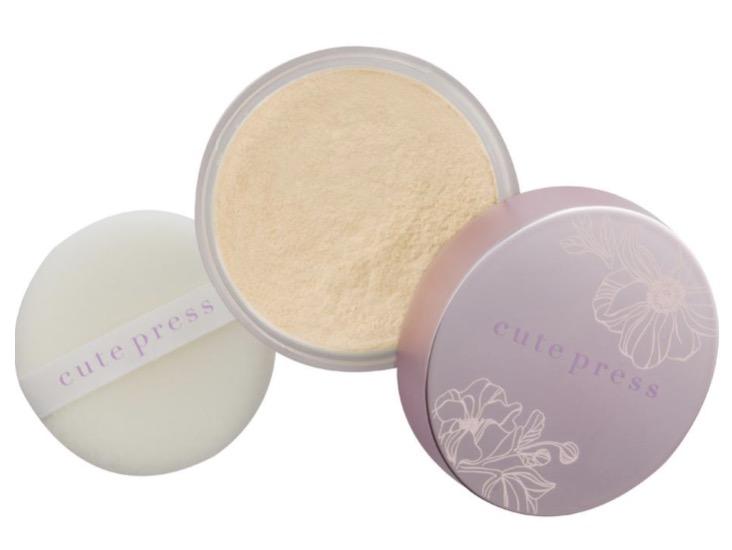 1. แป้งฝุ่นคุมมัน ยี่ห้อ Cute Press 1-2 Beautiful Ultra Fine Matte Loose Powder