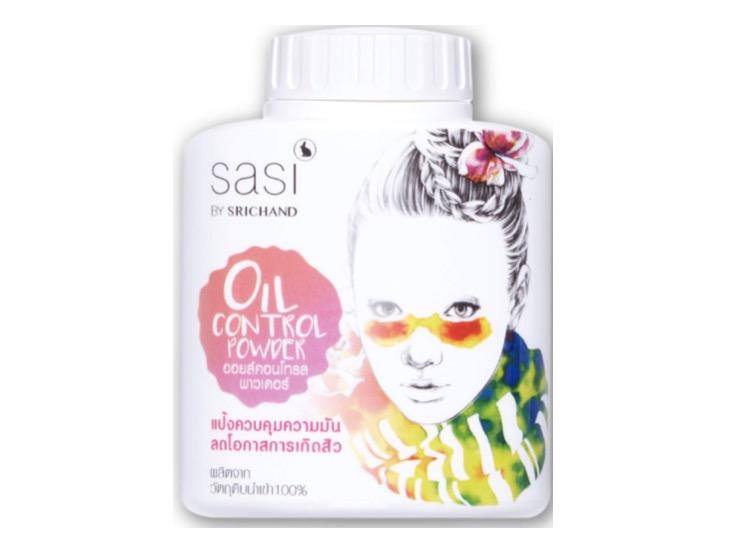 4. แป้งฝุ่น คุมมัน ยี่ห้อ sasi Oil Control Powder