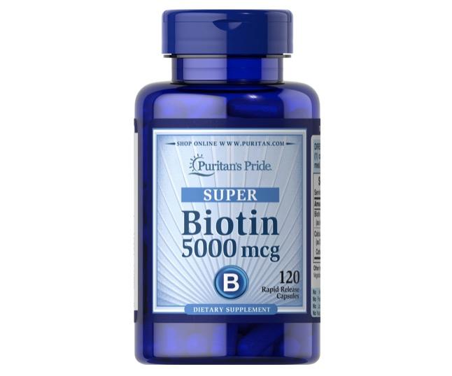 6. วิตามินบํารุงผม ยี่ห้อ Puritan's Pride Biotin