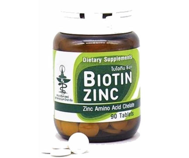 10. วิตามินบํารุงผม ยี่ห้อ Biotin Zinc คณะเภสัช จุฬา