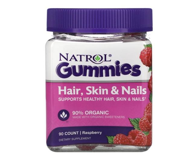 9. ไบโอติน ยี่ห้อ Natrol Gummies Hair, Skin & Nails